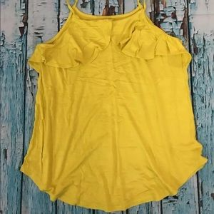 MAURICES Citron Ruffled Front Tunic Tank Top